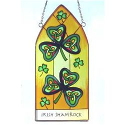 Shamrock Hanging Stained Glass