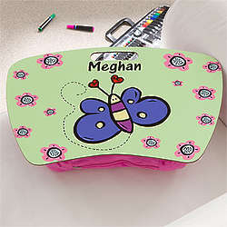 Girls' Personalized Butterfly Lap Desk