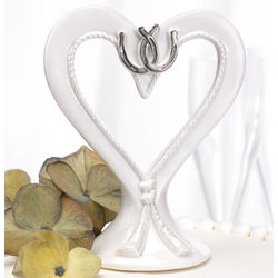 Linked Horseshoe Cake Topper