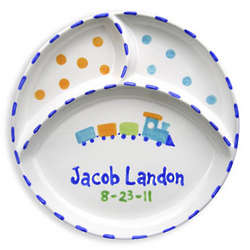 Train Personalized Divided Plate