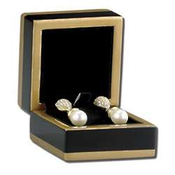 Black Maple Wood Earring Gift Case