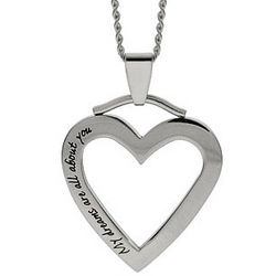My Dreams Are All About You Heart Pendant