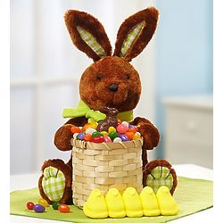 Plush Easter Bunny and Candy Basket