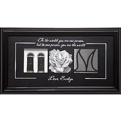 Personalized You are the World Framed Mom Print