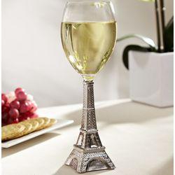 Silver Eiffel Tower Wine Glass