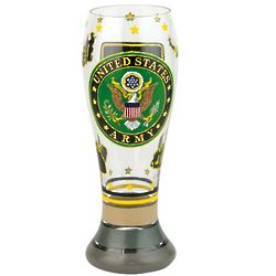Handpainted Army Pilsner Glass