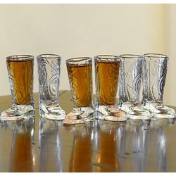 Cowboy Up Shot Glass Set