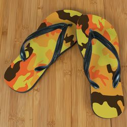Orange Camo Beacher Sandals