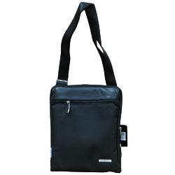 Traveler's Black Shoulder Bag