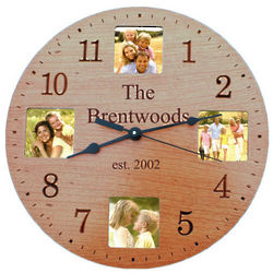 Cherry Finish Photo Clock