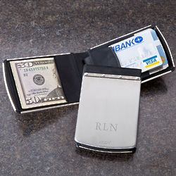 Personalized Zippo Stainless Steel Theft Resistant Wallet