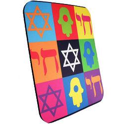 Judaica Theme Pop Art Mouse Pad
