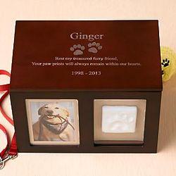 Personalized Pet Memorial Photo Keepsake Box