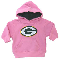 Infant's Green Bay Packers Pink Pullover Hoodie