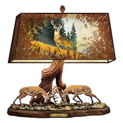 The Wilderness Challenge Desk Lamp with Deer Art