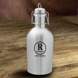 Initial Personalized Stainless Steel Growler