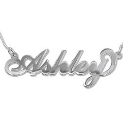 Personalized Sterling Silver 'Carrie' Style Name Necklace