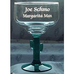Personalized Engraved Cactus Margarita