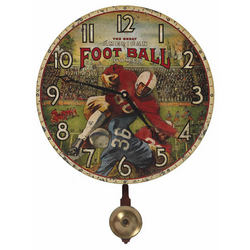 American Football Pendulum Wall Clock