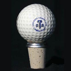 Vintage Golf Ball Wine Stopper