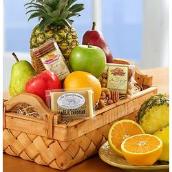 Abundant Fruit and Gourmet Large Gift Basket