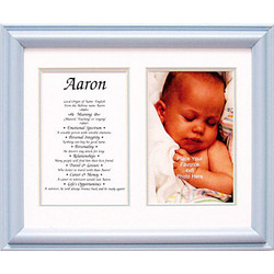 Personalized First Name Framed Print in Blue