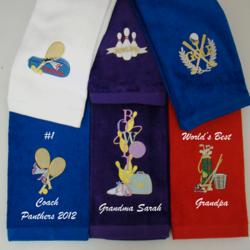 Sport Themed Personalized Rally/Hand Towel