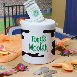 Personalized Moolah Coin Jar