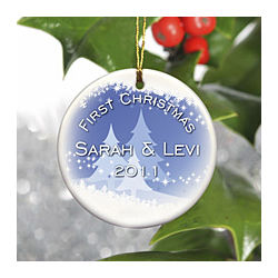 Personalized Snowscapes Ornament