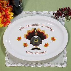 Pilgrim Turkey Personalized Serving Platter