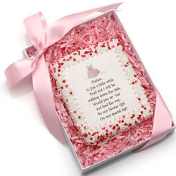 Personalized Will You Be My Flower Girl? Edible Cookie Card