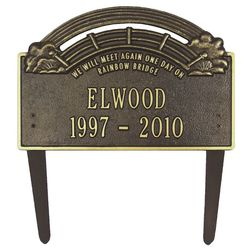 Rainbow Bridge Custom Pet Memorial Marker