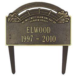 Rainbow Bridge Custom Pet Memorial Marker