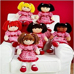 Personalized Valentine Rag Dolls