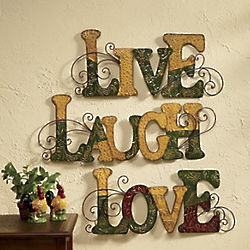 Live Laugh Love Wall Hangings