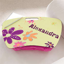 Personalized Girls' Flower Power Lap Desk