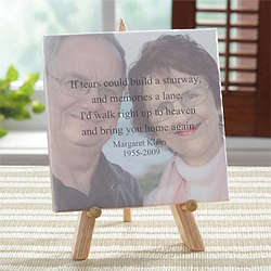 Personalized Memorial Photo Canvas