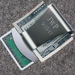 Personalized Smart Money Clip and Credit Card Holder