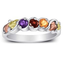 Sterling Silver Mother's 3 Birthstone Ring