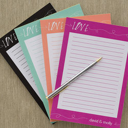 Personalized Love Note Pad