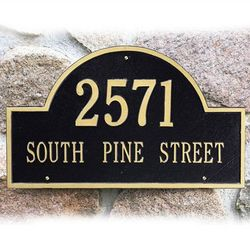 Arch Address Marker Wall Plaque