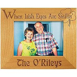 Personalized When Irish Eyes are Smilin' Wood Frame