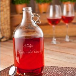 Personalized Wine Jug with Glasses