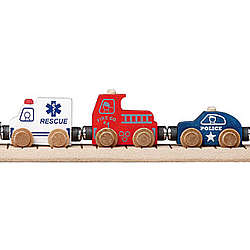 Wooden Toy Train Community Set