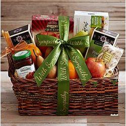 Organic Tea Basket with Sympathy Ribbon