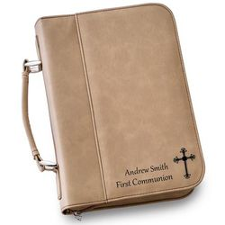 Large Personalized Faux Leather Bible Case