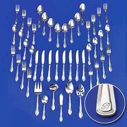 46 Piece Personalized Contempory Flatware