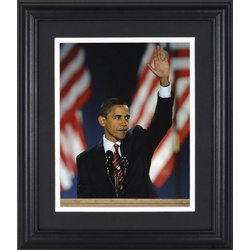 Barack Obama Inaugural Address Framed Unsigned Photograph