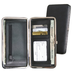 Ladies Leather Slim Framed Wallet