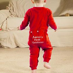 Red or Green Toddler Long Johns